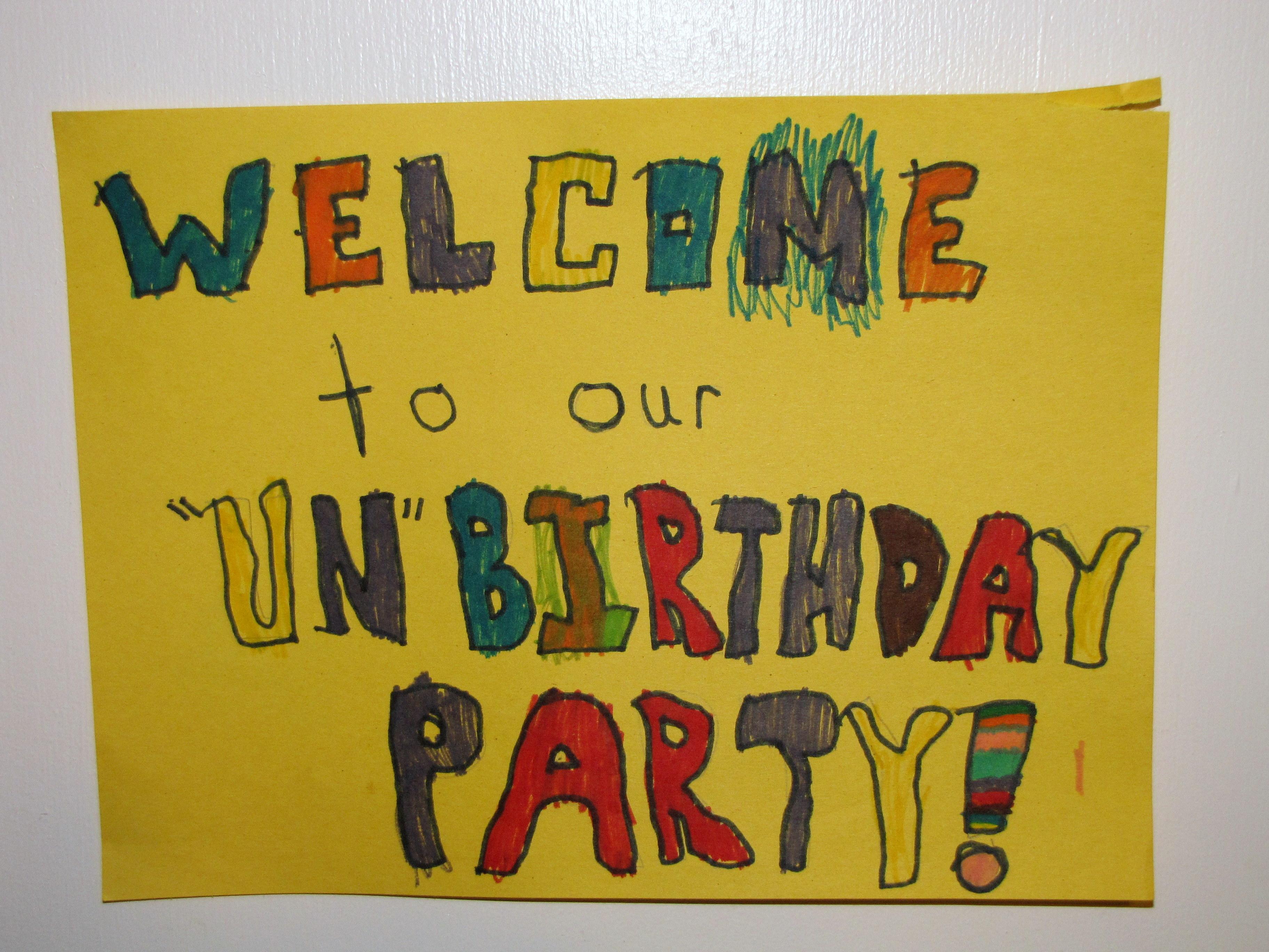 Unbirthday Party – Nurture Mama