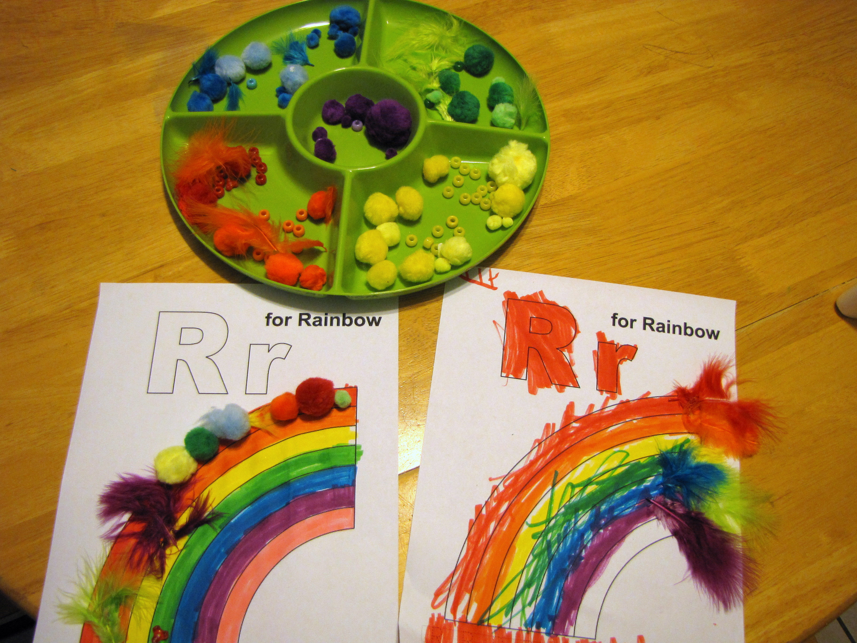 preschool lesson plan r is for rainbows nurture mama