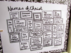 Names of Christ Advent free printable