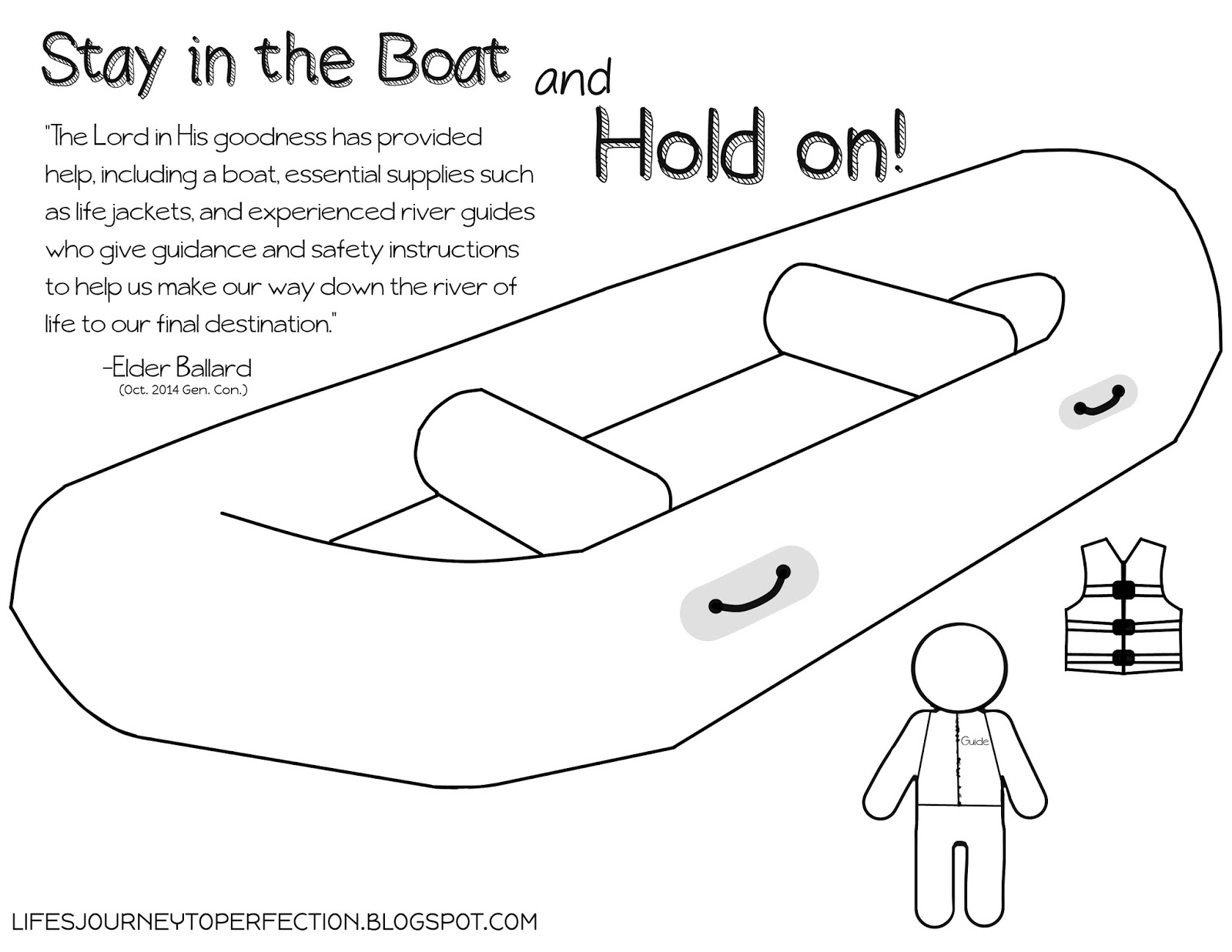 stay in the boat and hold on fhe plans and quotes from elder